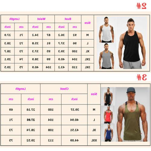 Men Gym Bodybuilding Fitness Workout Muscle Tee Vest