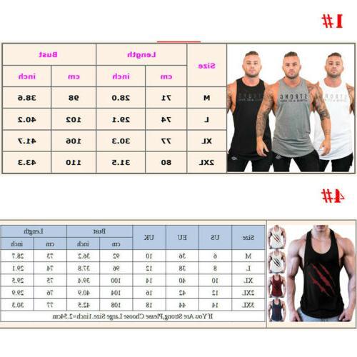 Men Gym Bodybuilding Workout Muscle Shirt Vest