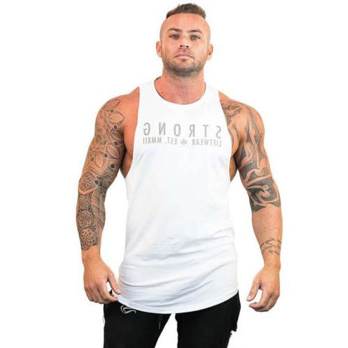 Mens Top Y-Back Sports Vest Clothes
