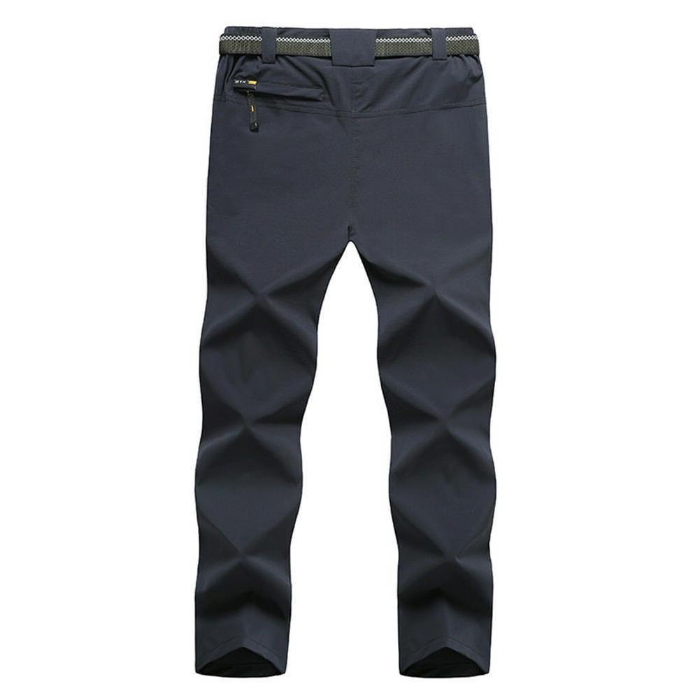 TACVASEN Mens Breathable Quick Dry Pants Belt Trousers