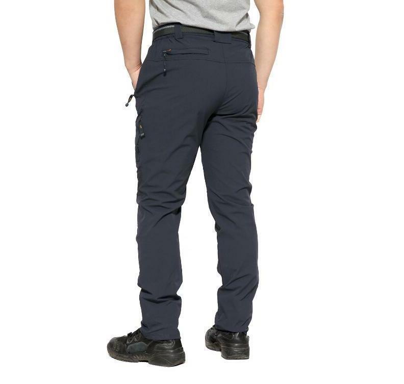 TACVASEN Mens Quick Dry Anti-Rip Belt Hiking Climb Trousers