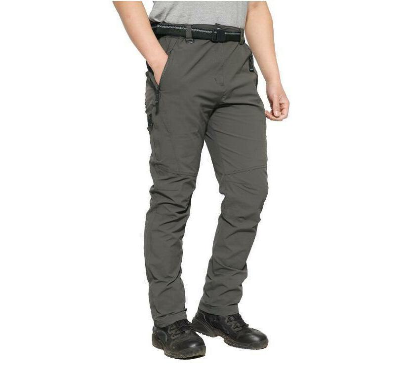 TACVASEN Breathable Quick Dry Belt Climb Trousers