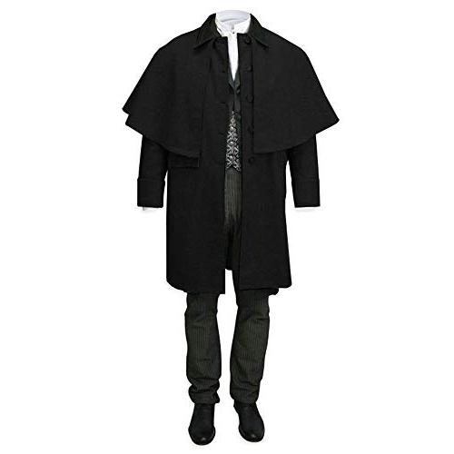 mens capecoat costume button down victorian wool