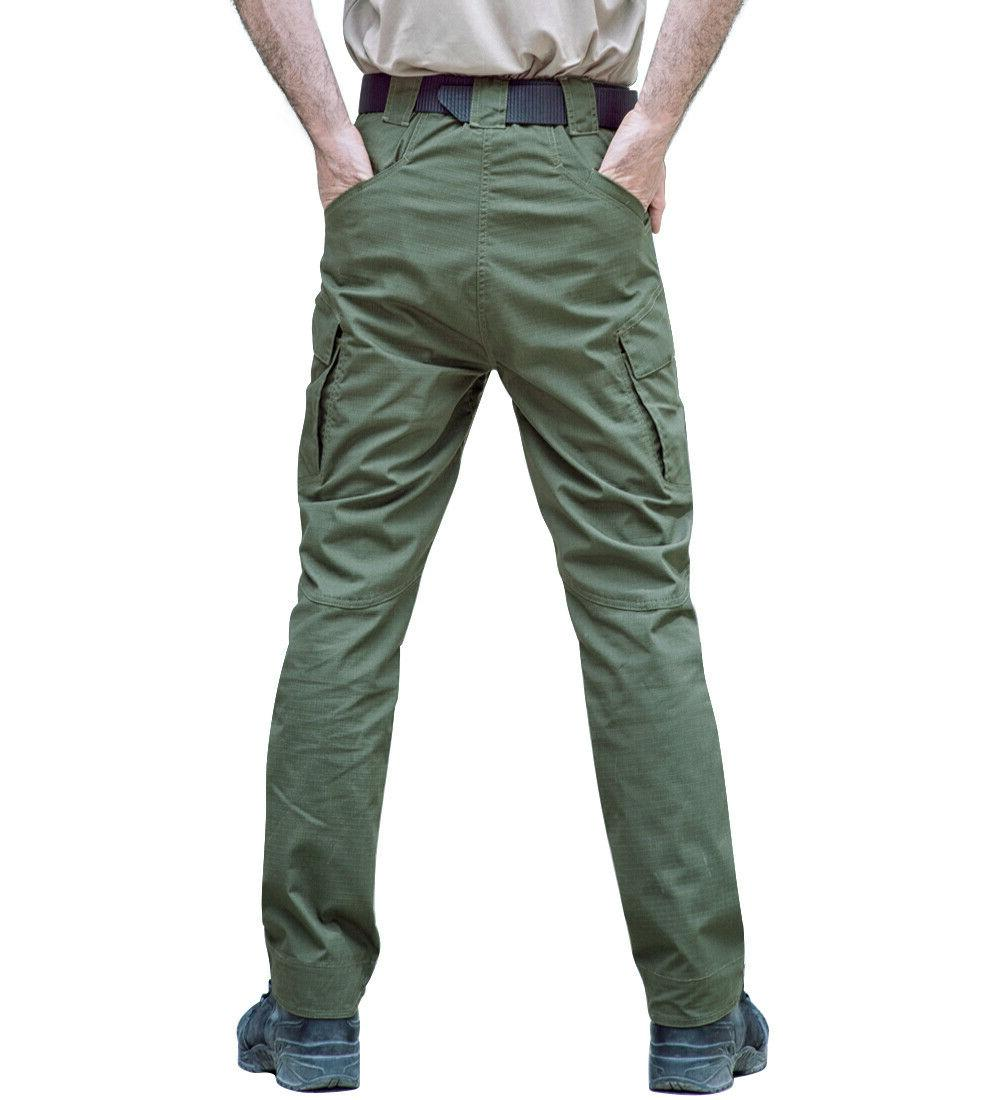 Mens Cargo Combat Trousers Bottoms Pockets