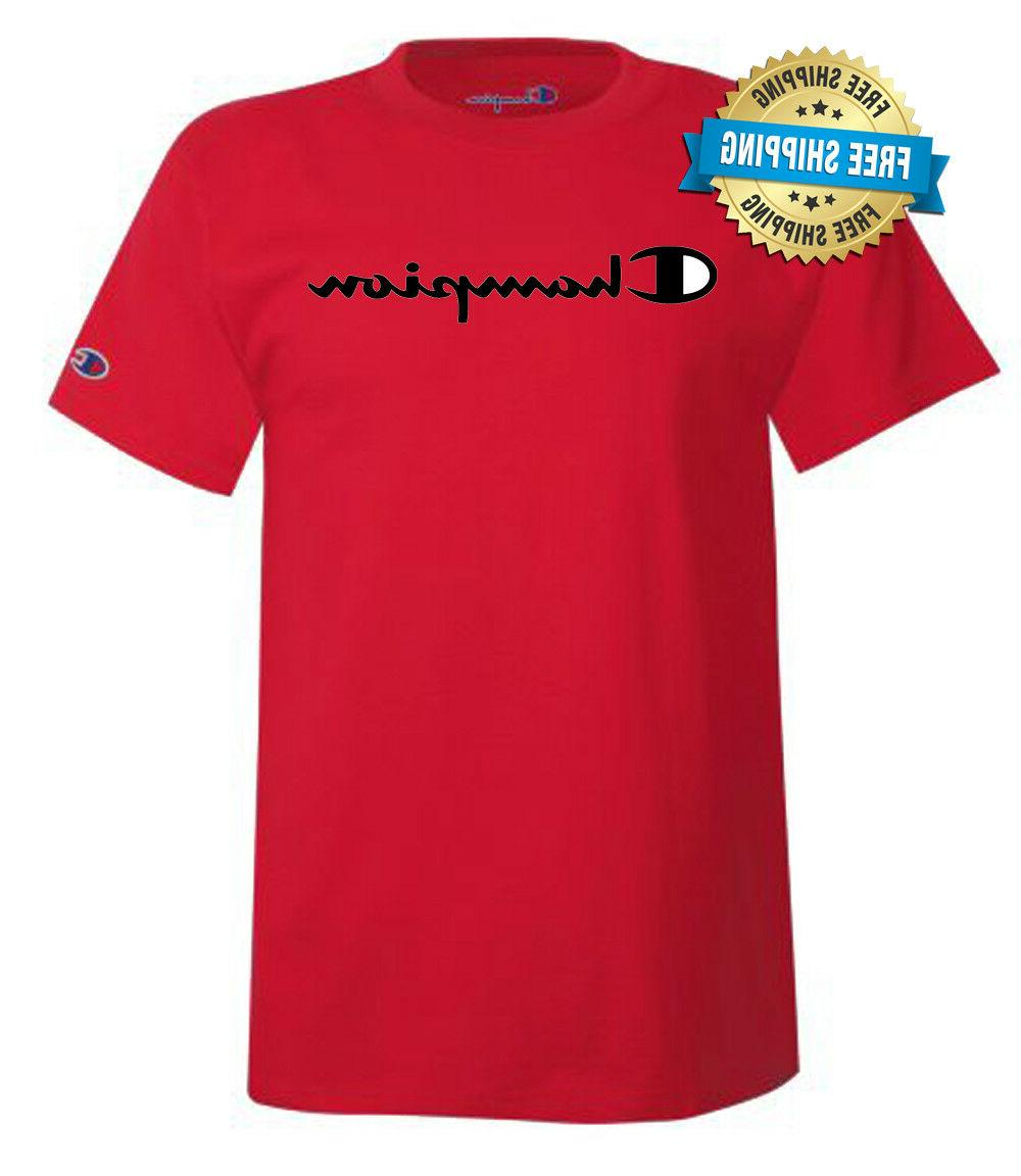 Champion Mens Classic Script Logo T-Shirt---Brand New---Various Sizes