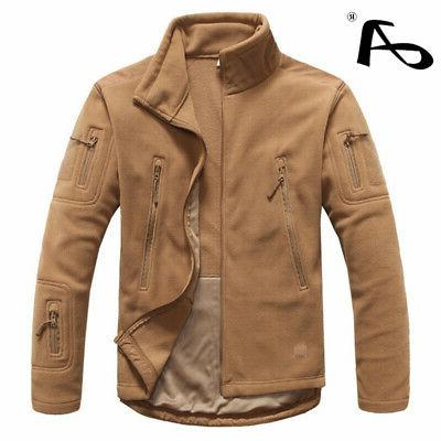 Mens Autumn Fleece Army Jacket Softshell Clothing For