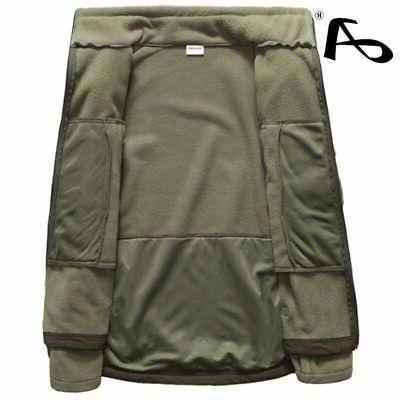 Mens Autumn Fleece Army Jacket Softshell Clothing