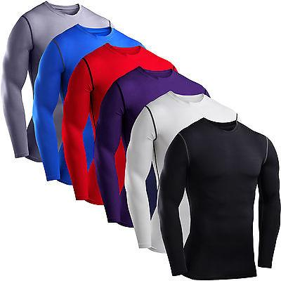 mens compression base layer top t shirt