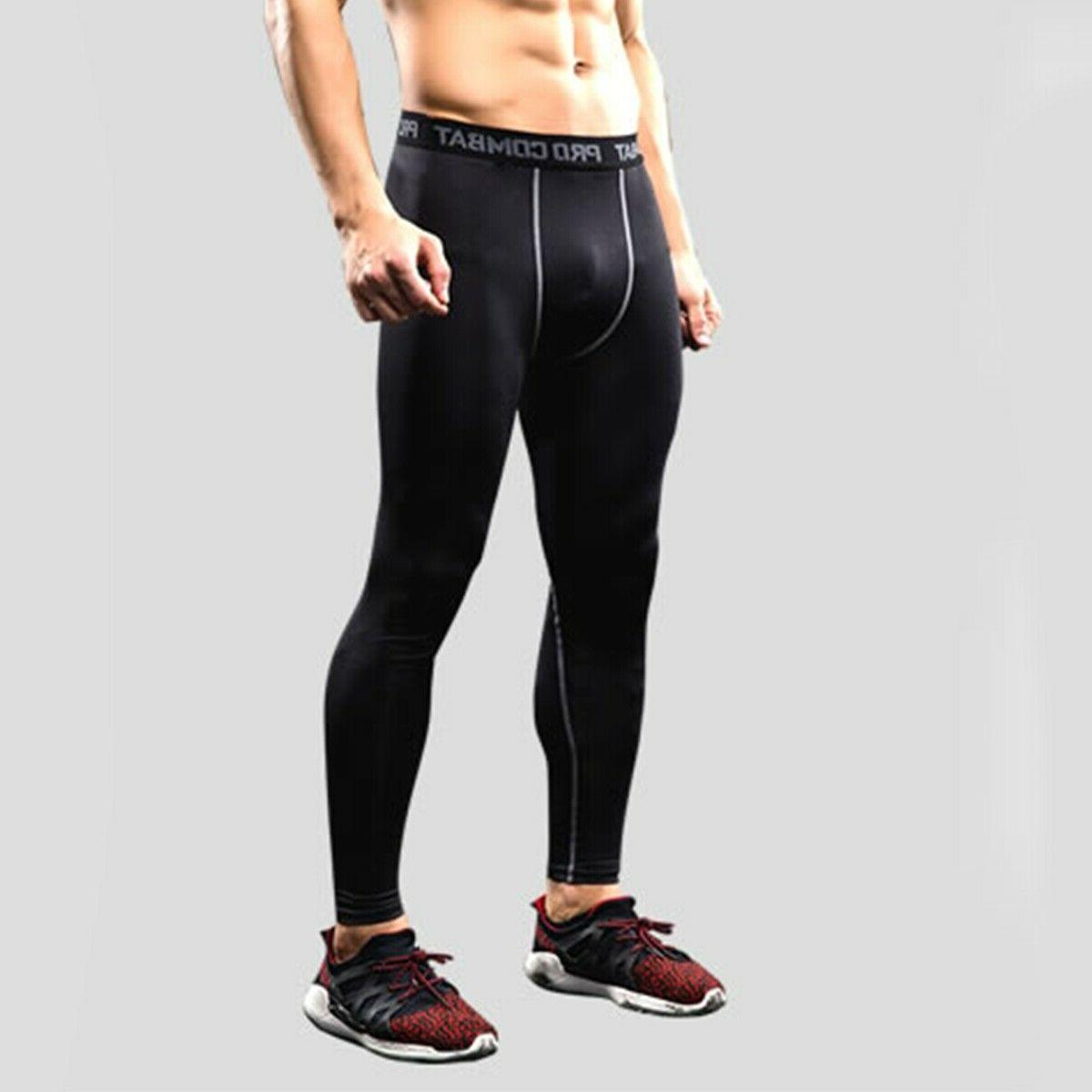 Men's Compression Dry Cool Sports Baselayer Running Leggings Yoga