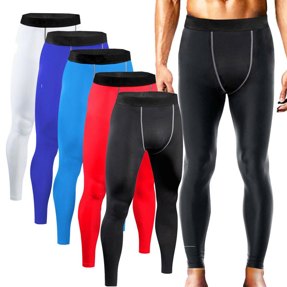 Mens Base Shirt Pants Gym Clothes Running Tights
