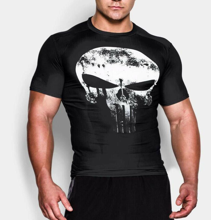 Men Gym Batman Fitness Cotton Tee Workout