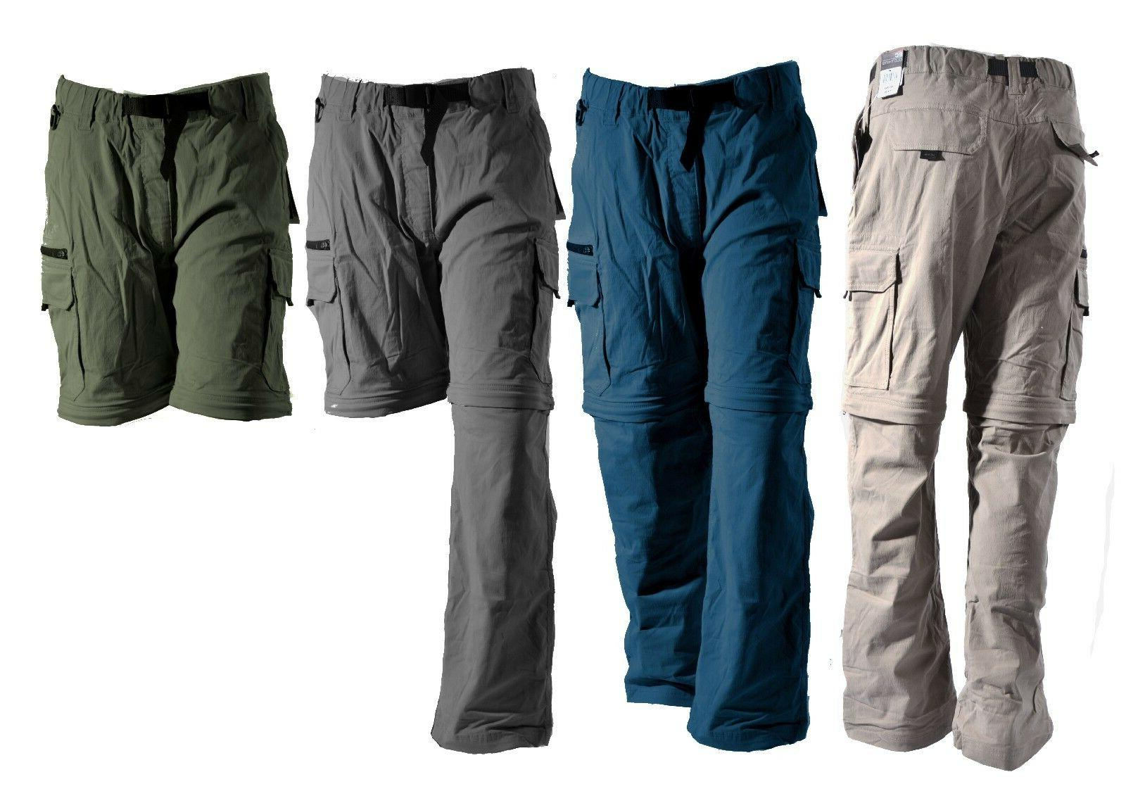 BC Clothing Pants Zip-Off Shorts Hiking Stretch