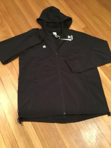 Packable Wind Jacket Large Black/White $70