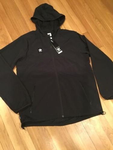 mens dekum packable wind jacket size large