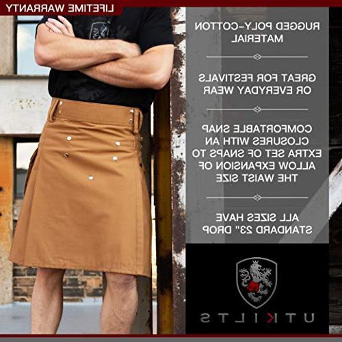 Men's Standard Utility Kilt, Scottish Dress