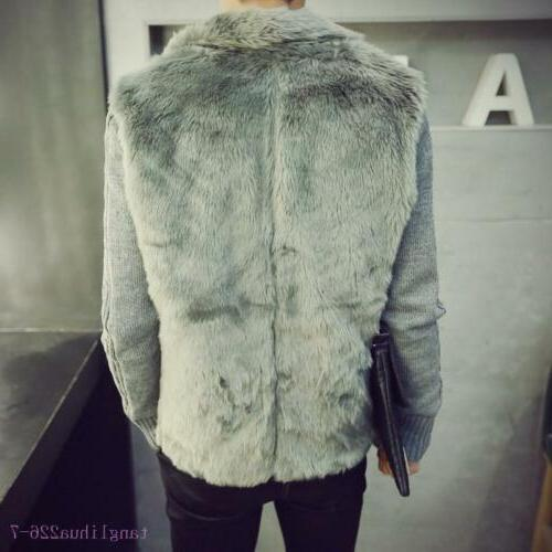 Mens Fur Winter Winter Outerwear Casual Clothes