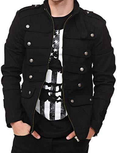Karlywindow Mens Gothic Jackets Casual Band Steampunk Vintage Jacket Pockets
