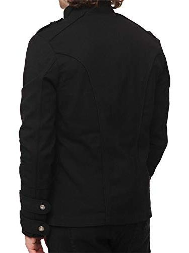 Karlywindow Mens Military Jackets Casual Pockets