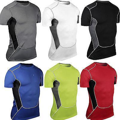 Men Tshirt Skin Layer Athletic Apparel Workout