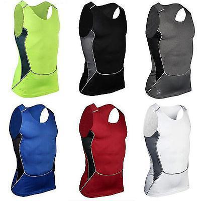 Men Compression Under Skin Base Layer Apparel Vest