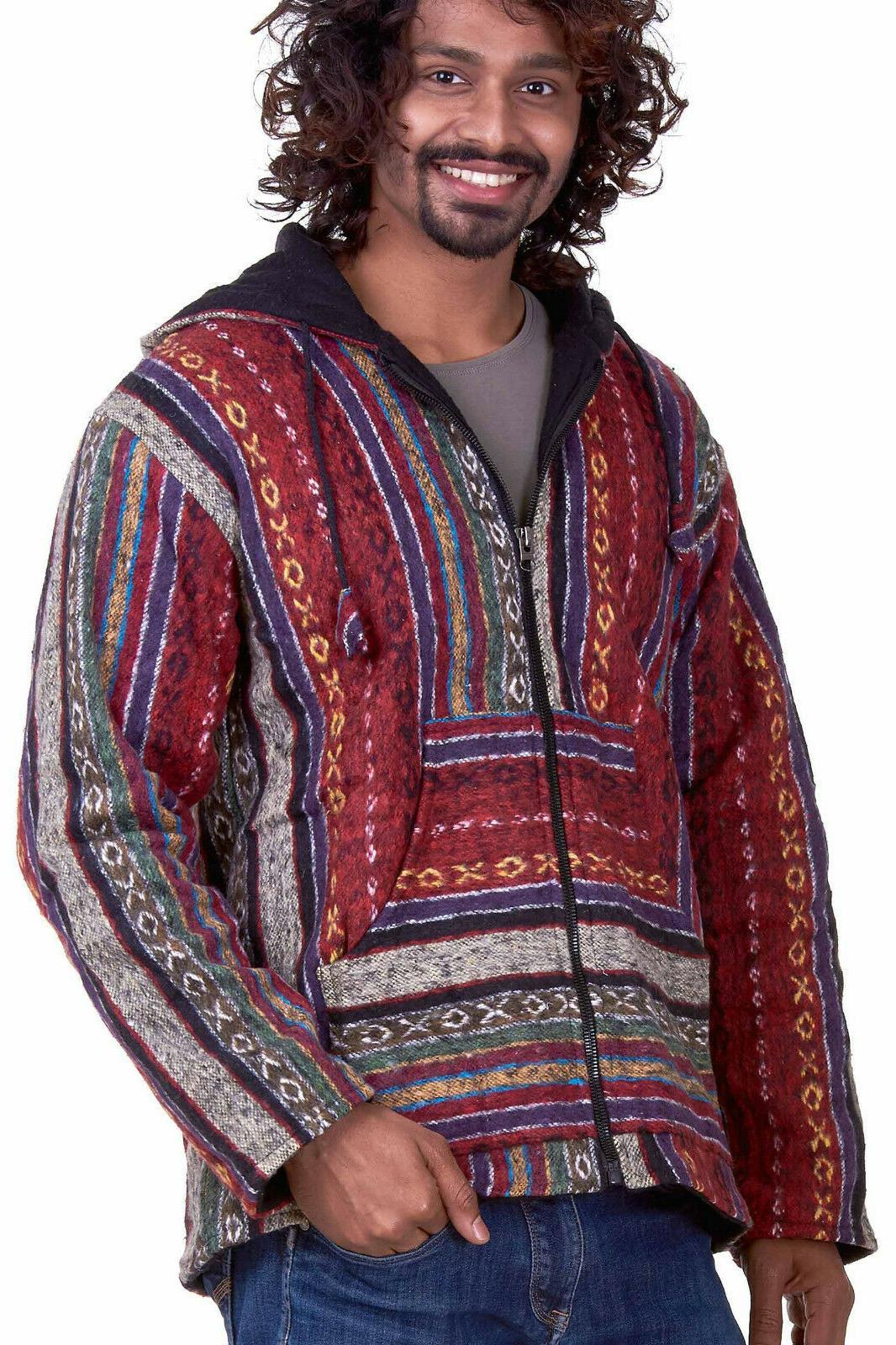 Nepalese Baja Hippie Hoodie, Festival Clothing