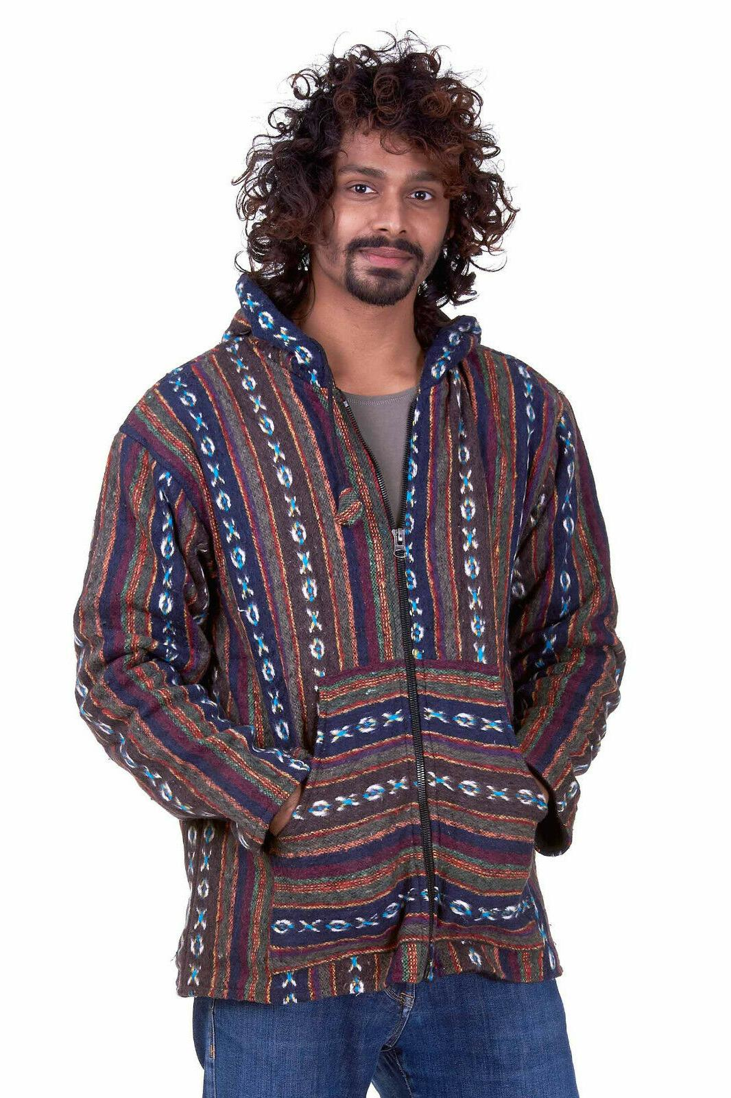Mens Hippy Jacket, Nepalese Hippie Festival Clothing For