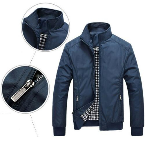 Mens Jacket Lightweight Bomber Tops