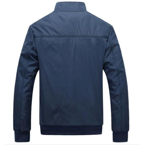 Mens Jacket Lightweight Bomber Outfit Tops Outerwear