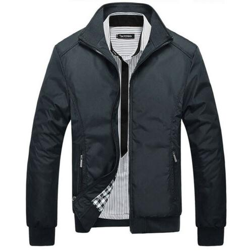 Mens Jacket Bomber Coat Tops Outerwear Clothing