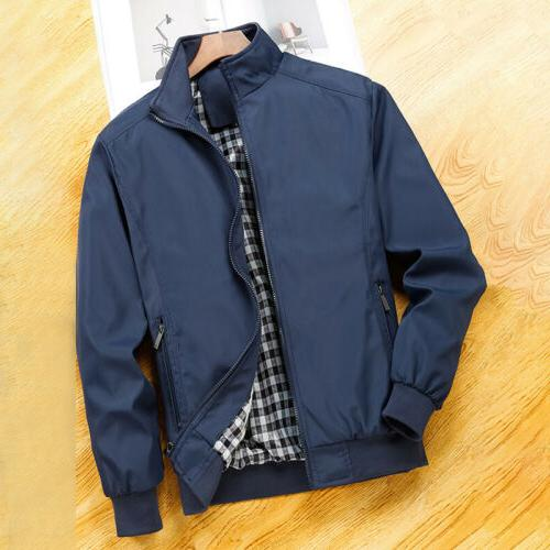 Mens Summer Bomber Coat Outfit Tops Outerwear Clothing