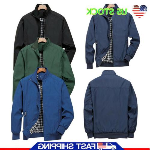Mens Jacket Bomber Coat Tops Clothing