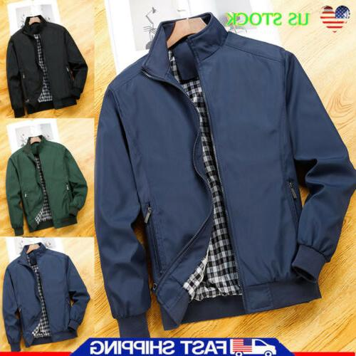 mens jacket summer lightweight bomber coat casual