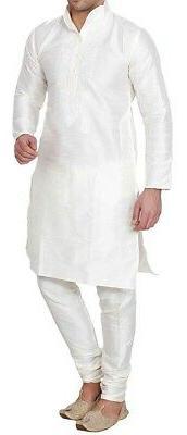 mens kurta set white size 48 shirt