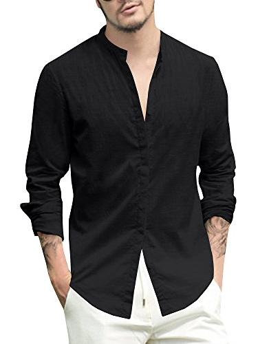 mens long sleeve casual buttons down shirts