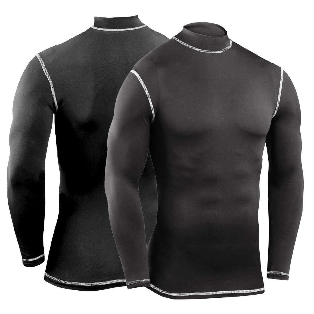 Mens Compression Shirt Long Gym Workout Clothes
