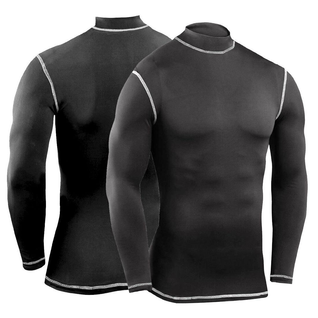 Mens Compression Shirt Long Workout Gym Clothes