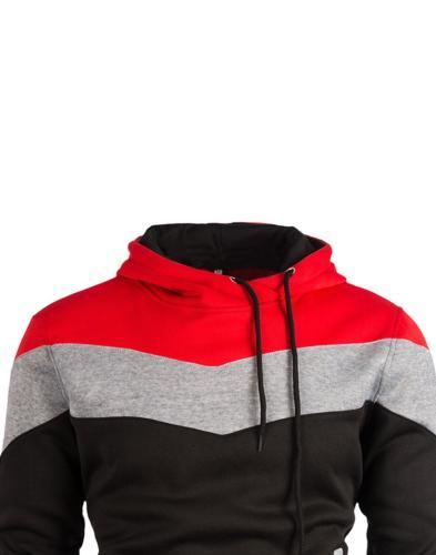 Mooncolour Color Block Hoodies Autumn Outwear US Large
