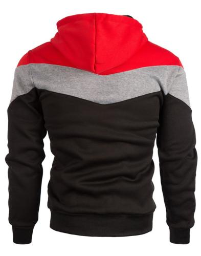 Mooncolour Block Hoodies Sport Autumn Outwear