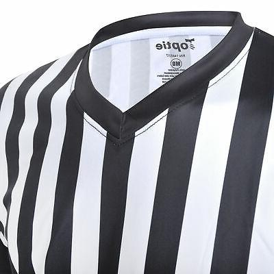 TOPTIE Neck Stripe Referee Shirt