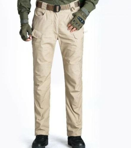 Mens Outdoor Tactical Combat Trousers Cargo Pants Hiking
