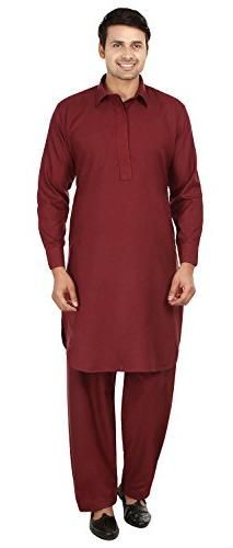 mens pathani kurta salwar set indian party