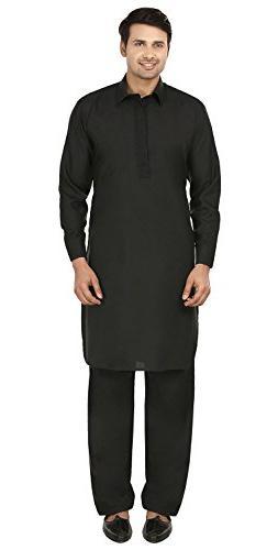 Maple Clothing Mens Pathani Kurta Salwar Set Indian Party We