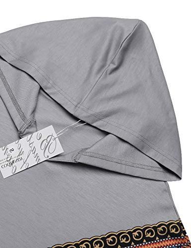 COOFANDY Mens Poncho Cloak Casual Hooded Hem Hoodie