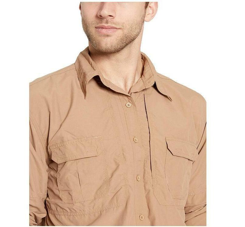 Men's Quick Dry Lightweight Tactical Shirts Sleeve Fishing Travel Shirts
