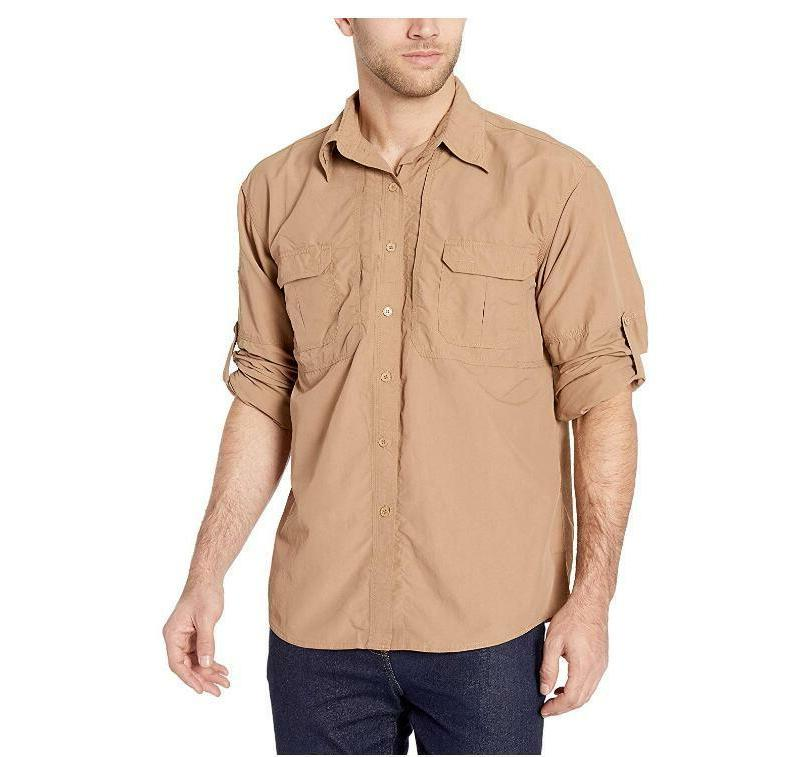 Men's Dry Tactical Shirts Fishing Travel Shirts