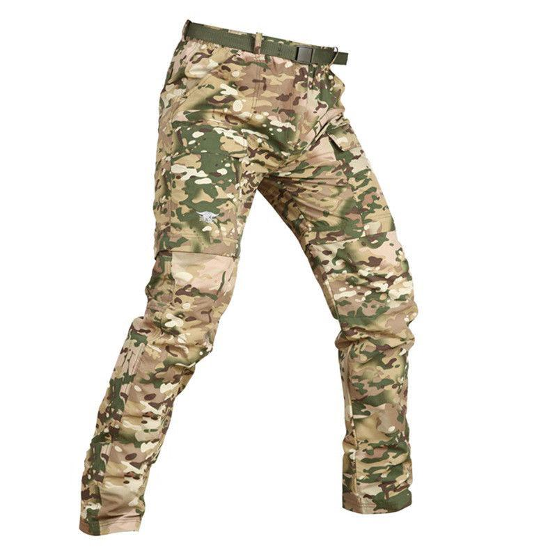TACVASEN Mens Quick Dry Combat Pants Shorts Trouser Pants
