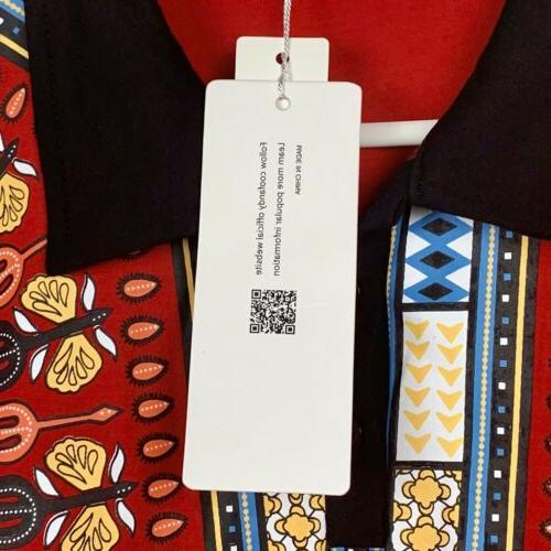 Coofandy Men's Red Long Shirt XXL 3 NWT