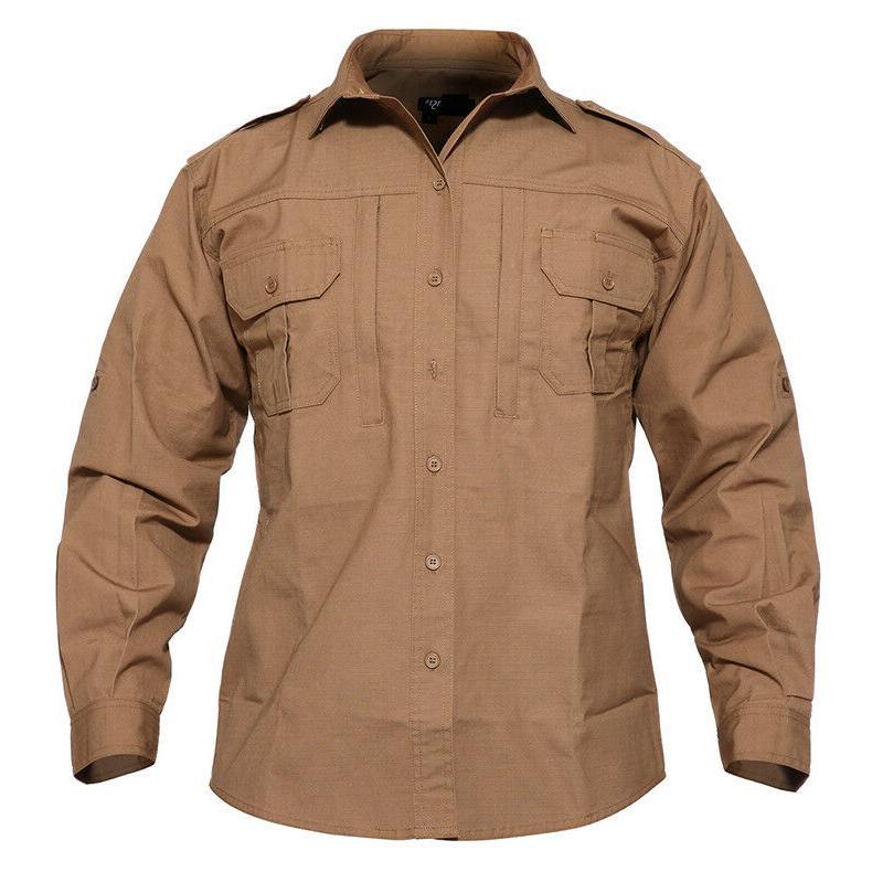 TACVASEN Tactical Anti-UV Long Sleeve Shirts