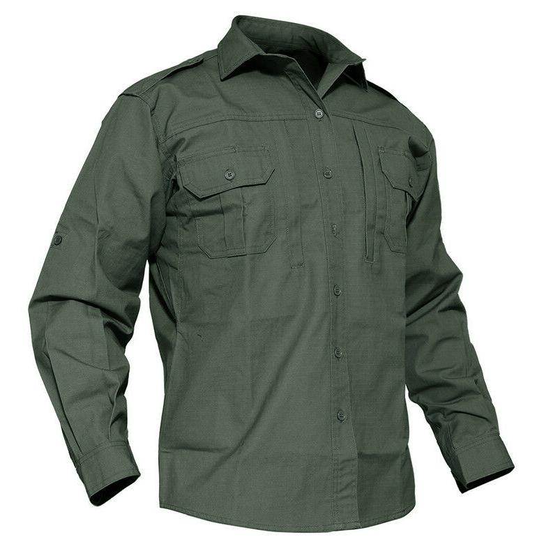 TACVASEN Anti-UV Shirt Military Long Sleeve
