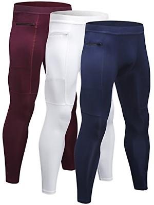 Yuerlian Tights, Cycling Pants Leggings with Zipper 3